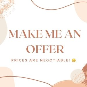 Feel free to send me an offer! 😊